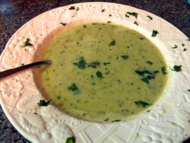 Zucchini Garlic Soup Recipe — Dishmaps